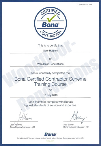Bona Certified Contractor Course