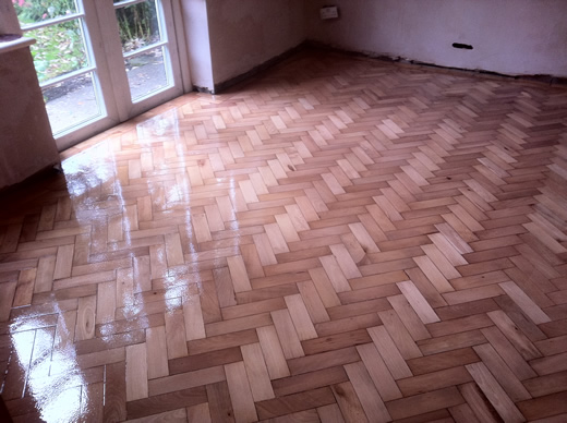 Beech Parquet Block Renovation in Cheshire by Woodfloor-Renovations