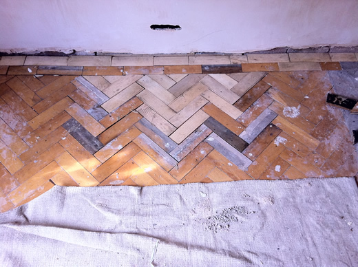 Beech Parquet Block Floor Sanding and Repairs in Cheshire
