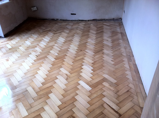 Wood Floor Renovation in Cheshire - Beech Parquet Flooring