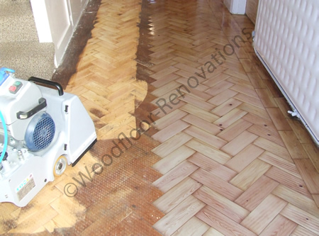 Wood Floor Renovation Specialists Sanding Parquet Block