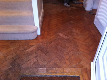 floorboard and parquet wood block flooring restoration in north