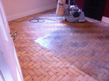 Pine Parquet Floor Sanding in Crewe, Cheshire