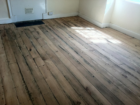 Original Pitch Pine Floorboards Sanded And Sealed By Wood