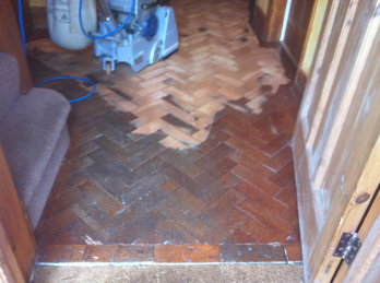 Parquet Block Repair Before and After Pictures