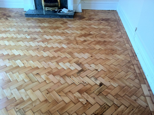 Original Pine Wood Block Restoration in Abergele North Wales