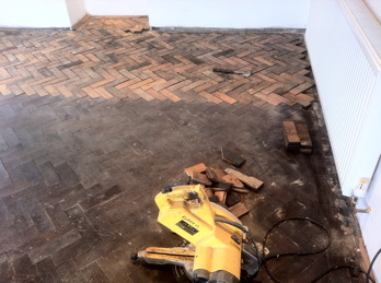 Pitch Pine Parquet Block Flooring Repairs