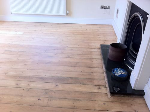 Yellow Pine Floor Boards Sanded Off