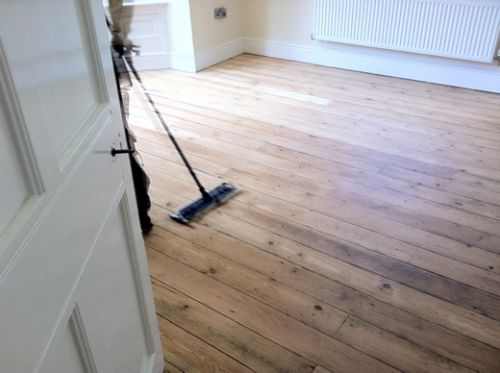 Yellow Pine Floorboards Restored in Cheshire by Woodfloor-Renovations