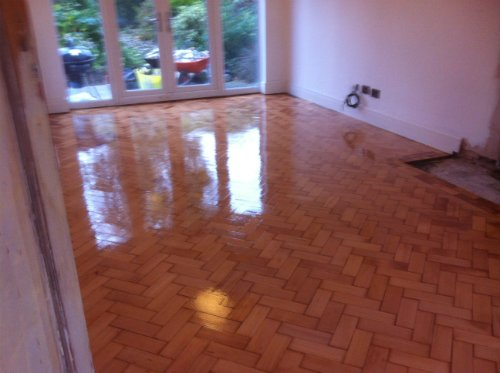 Parquet Wood Block Flooring Restored in Cheshire by Woodfloor-Renovations