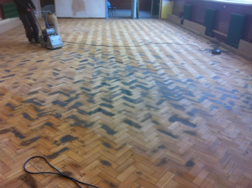 Pitch pine parquet wood block floor renovation and for Parquet renovation