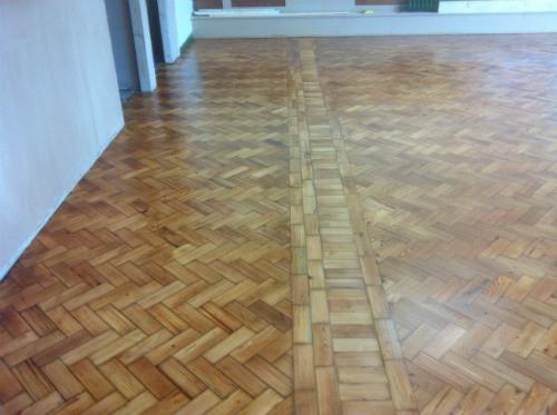 pitch pine parquet wood block floor renovation and restoration at stalybridge church hall cheshire. Black Bedroom Furniture Sets. Home Design Ideas