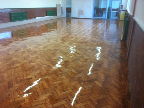 Pitch Pine Parquet Wood Block Floor Renovation And