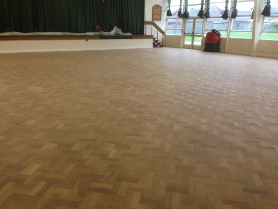 Floor Sanding and Sealing at Ysgol Dewi Sant in Rhyl, North Wales