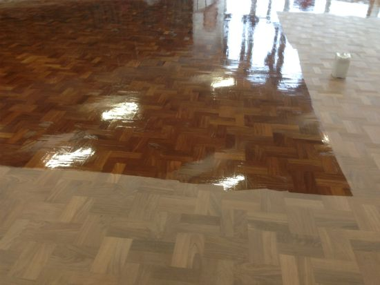 Close up view of the floor