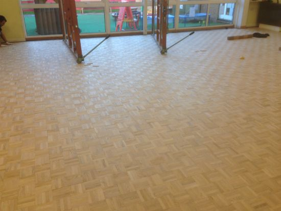 Oak Mosaic Parquet Installation in Denbigh, North Wales