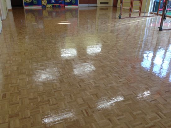 Bona Traffic HD treatment on Oak Mosaic Parquet by Woodfloor-Renovations
