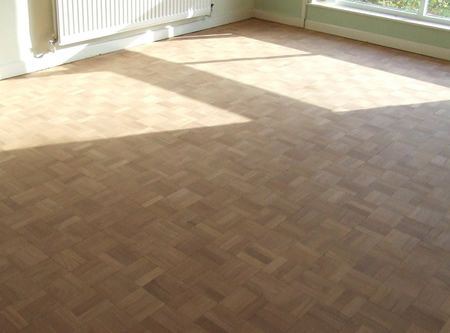 Main Mosaic Parquet Flooring Sanded and Ready for Lacquer