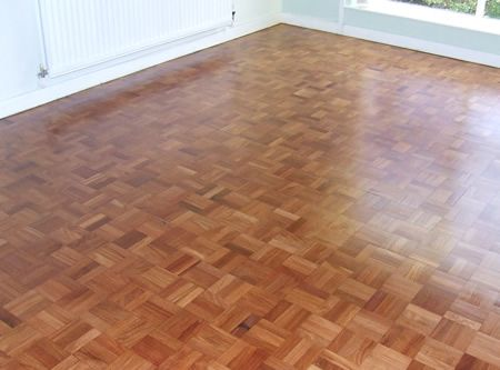 Mahogany Mosaic Parquet With Lacquer Applied