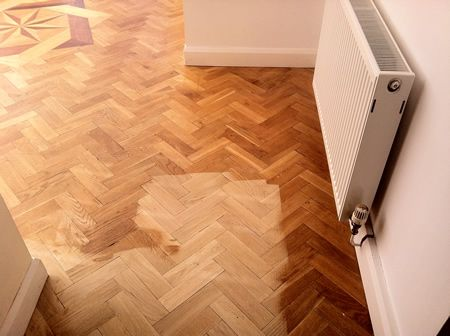 Rustic Oak Parquet Flooring Renovated in Cheshire by Woodfloor-Renovations
