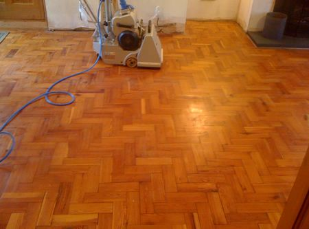 pitch pine parquet wood block flooring renovated in caernarfon north wales. Black Bedroom Furniture Sets. Home Design Ideas