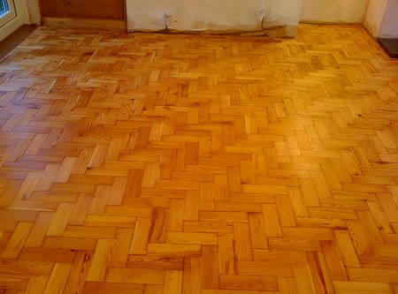 pitch pine parquet wood block flooring renovated in. Black Bedroom Furniture Sets. Home Design Ideas
