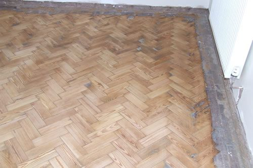 Pitch Pine Parquet Block Floor Restoration in North Wales by Woodfloor-Renovations