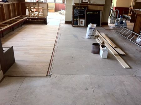 Wood Floor Renovations In Rhylmillbank Pubparquet Floor Renovation