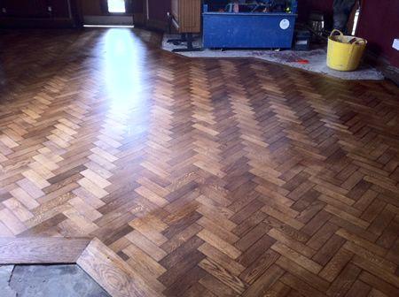 Wood Floor Renovations In Rhyl Millbank Pub Parquet Floor