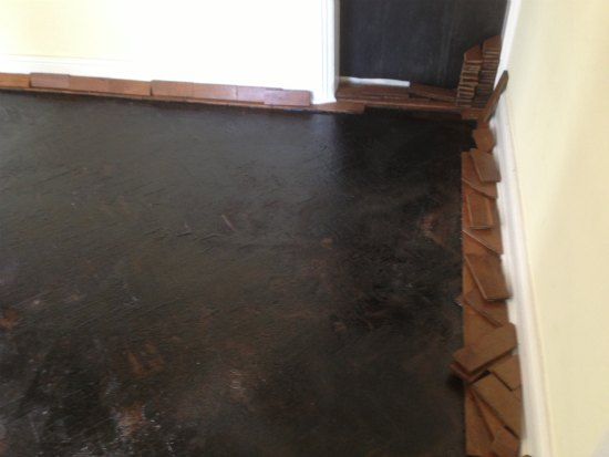 Oak Parquet Block Floor Repaired and Restored in Conwy Valley, North Wales