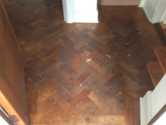 Oak Parquet Block Floor Repaired and Renovated in North Wales by Woodfloor-Renovations