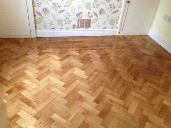 Oak Parquet Wood Block Flooring Repaired and Restored in Conwy Valley, North Wales