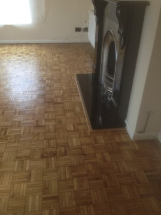 Oak Mosaic Finger Parquet Repaired and Restored in Wrexham, North Wales
